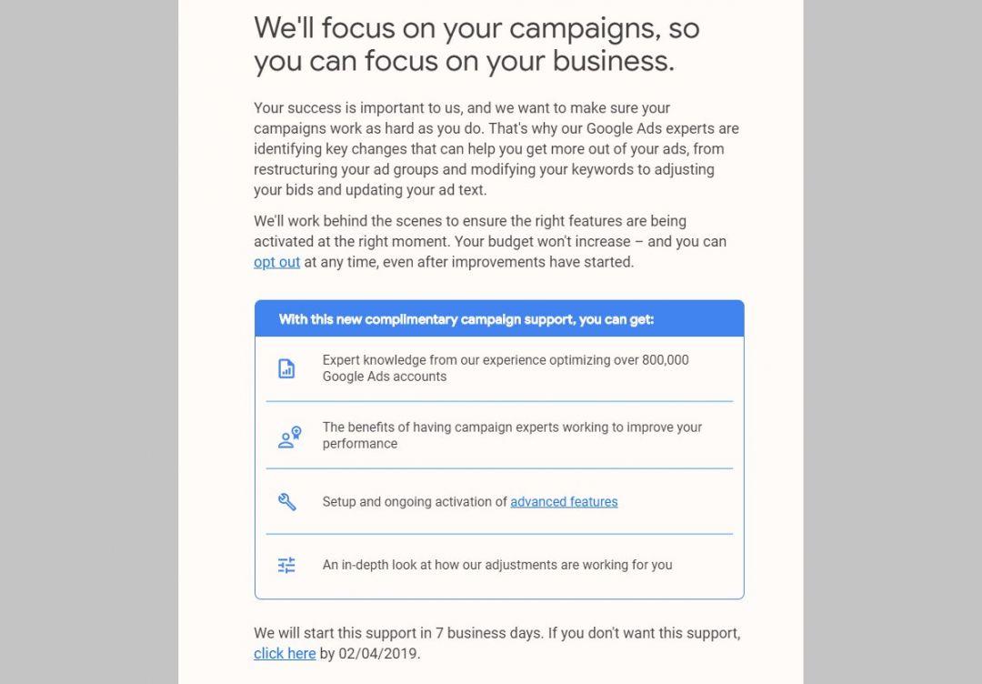 Специалисты Google Ads переберут в свои руки управление кампаниями отдельных реклов