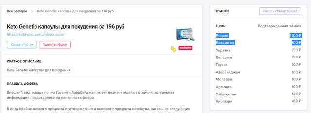116 305 руб. на оффере Keto Genetic c Google Ads