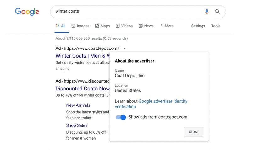 Google: подтвердите свой бизнес-статус