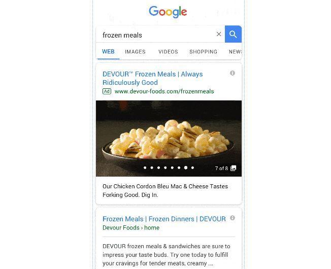 Google: больше изображений в Gallery Ads