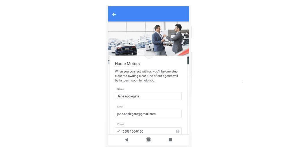 Показ формы для клиентов: больше пользы с объявлениями в поисковой сети