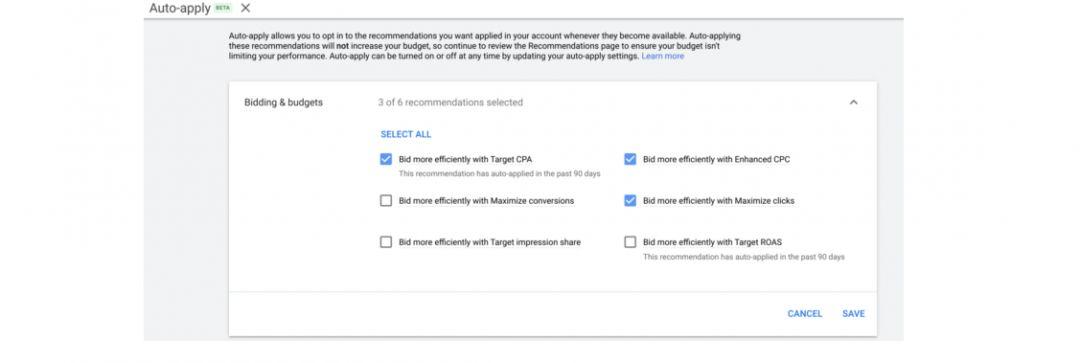 Google Ads внедряет автоматически применяемые рекомендации